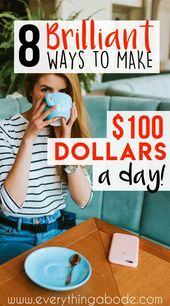 8 Brilliant Ways To Make $100 A Day – Everything Abode | Home Hacks | Life Hacks | Blogging Tips