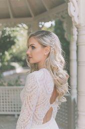Long Bridal Hairstyles, Half Up Half Down Bridal Hair #longblondehairstyles
