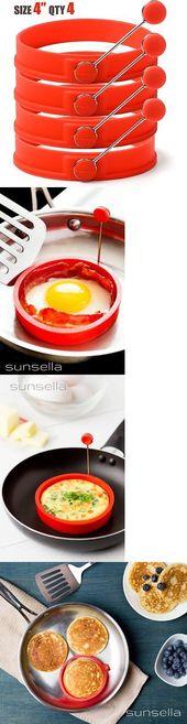 Egg and Pancake Rings 178054: Sunsella 4 Silicone Egg Pancake Rings – 4 Pack -> …   – Cake Recipes