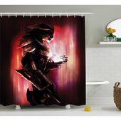 Winston Porter Bautista Bird Robot War Machine Soldier Science Technology Futuristic Art Print Single Shower Curtain