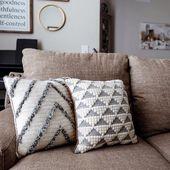 CROCHET PATTERNS // Decorative Modern Geometric Accent Home Bedroom Living Room Throw Accessory Pillows // Hima & Appalachian Pillows