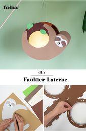 DIY Faultier-Laterne basteln: Anleitung & Vorlage