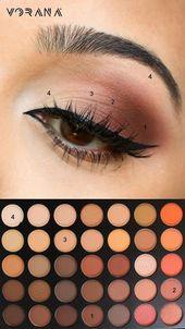 einfache Augen Make-up-Tipps für Anfänger, die .. #eyeshadow #eyemakeup – beau…