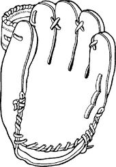 Baseball Glove Coloring Page Coloring Pages Dinner Recipes For
