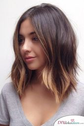 30 hairstyles for medium length hairstyles: medium length, tiered, with bangs