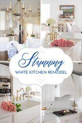 A Stunning White Kitchen Remodel