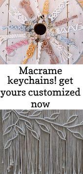 Makramee Schlüsselanhänger! Lassen Sie sich jetzt individuell gestalten @purposelyknotted on instagram klicke um das bild zu s 1