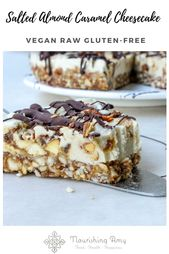 A raw, vegan and gluten free cheesecake with salte…