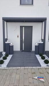 Ein Alu-Haustürvordach der Marke REXOvita VSG 3m …