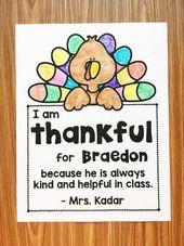 Kostenlose Dankesnotiz für Ihre Schüler (bearbeitbar)   – Fall/Thanksgiving at School