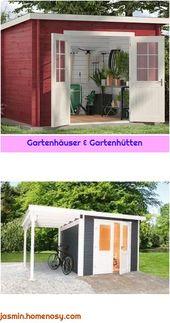 Gartenhäuser & Gartenhütten   – Pultdach anbau