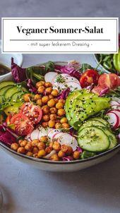 Unser bunter Sommer-Salat bringt alles mit was wir an einem Salat lieben. Versch – Gesunde Rezepte