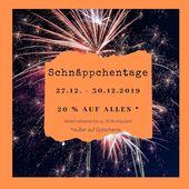 Photo of Achtung: Schnäppchen Tage ab 27.12. – 30.12.2019. 20% auf alles. Teil von …