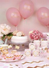 1. Geburtstagskind   Geschenkserie   1. Geburtstag   Baby-Bauch-Party   – Babyparty Mädchen – Motto-Ideen