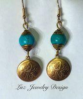Erstaunliche Ohrringe, handgefertigt aus hochwertigen Materialien. Zwei Vintage …