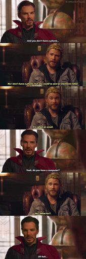 Oh Thor one of my favorite scenes!!! Marvel does so well to keep characters not from earth or not from present day (Cap A) off beat just enough that w…