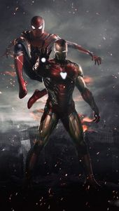 #Marvels-Iron Man und Spidey iPhone Hintergrundbil…