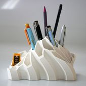 Image of Cool 3D Printing Ideas: 50 Useful 3D Printing Templates: Pen Holders