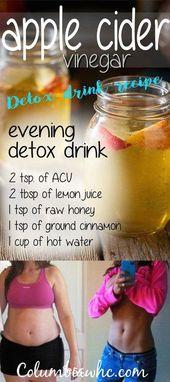 Apfelessig Detox Drink – Dieses Rezept ist köstlich. Es fördert das Gewicht