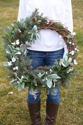 Hot to Make a Rustic Farmhouse Wreath