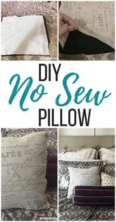 Makeover Edition : Easy No Sew Accent Pillow Room Decoration  | Arts and Classy