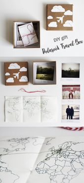 DIY Gift for Globetrotters: The Polaroid Travel Crate