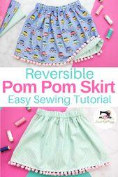 Easy Beginner-Friendly Reversible Girls' Skirt Sewing Tutorial
