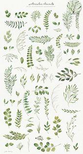 Grüne Blattsammlung von Julia Dreams im Kreativma…