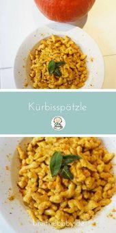 Kürbisspätzle mit Salbei Curry Butter ganz schnell selbst gemacht.