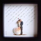 Unique WEDDING Gift-Customized Wedding Gift-Pebble Art-Unique Engagement Gift-We…
