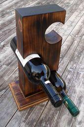 Wooden wine rack Rustic Custom wine rack Custom wi…