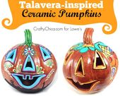 Paint Your Own Talavera Pumpkin – The Crafty Chica