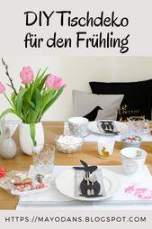Décoration de table bricolage pour le printemps   – DIY: Mayodans Home, Garden & Crafts