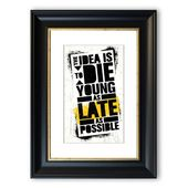 East Urban Home Framed Photographic Print The Idea is to Die Young | Wayfair.de