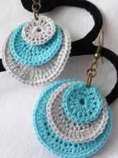 Items similar to natural cotton crocheted earrings on Etsy