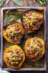 69603a60f1c8078d21d98ff1b4a2f6f4 This savory stuffed acorn squash is so delicious it's addicting! A sausage and...