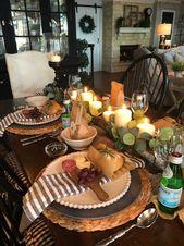 Ideen für eine einfache und schöne Dinnerparty. Einfache Table-Scape-Ideen ita …   – Interior design dining room