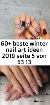 60+ beste Winter Nail Art Ideen 2019 Seite 5 von 63 13   – Nagel