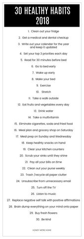 30 Healthy Habits for 2018 & Best of Decor/Organization 2017