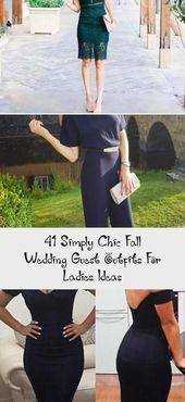 41 Simply Chic Herbsthochzeitsgast Outfits für Damen Ideen – Pinokyo   – Kleid