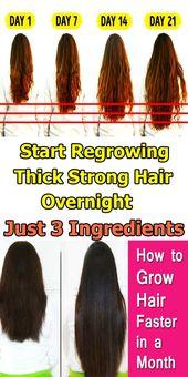 Beginnen Sie mit nur 3 Zutaten über Nacht mit dem Nachwachsen von dickem, dickem Haar – Haar