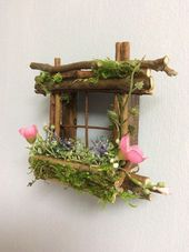 Mini Fairy Window 2 1/2 inch by 2 1/2 inch size add Fairy