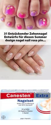 31 entzückende Zehennagel-Designs für diesen Sommer #design #nail #nail #r …   – Fingernagel