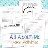 All About Me Aktivitätsthema für Vorschule & Kindergarten – Preschool