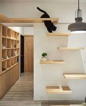 Schlichte und elegante Katzenmöbel / Regale – Deko für Chat / Katzendeko … … – #Chat #d…