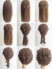 Schnell und einfach Hochsteckfrisuren für lange, dicke Haare