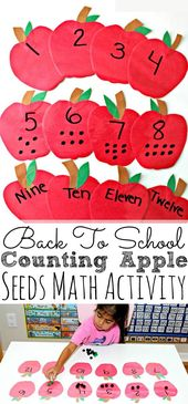 DIY Back To School Counting Apple Seeds Game For K…