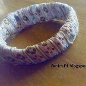 Ribbon Covered Bracelet