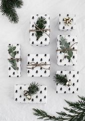 Druckbares Weihnachts-Geschenkpapier