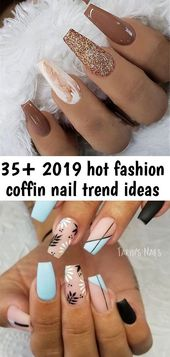 35+ 2019 scorching style coffin nail development concepts – #coffin #style #concepts #development – …